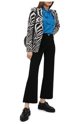 Женская шелковая блузка MICHAEL MICHAEL KORS тёмно-голубого цвета, арт. MF04M6NB06 | Фото 2