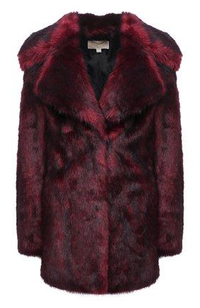 Женская шуба из экомеха MICHAEL MICHAEL KORS бордового цвета, арт. MF02J80D4A | Фото 1