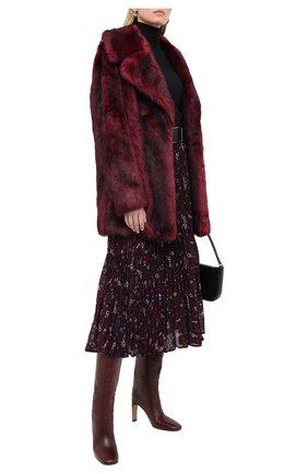 Женская шуба из экомеха MICHAEL MICHAEL KORS бордового цвета, арт. MF02J80D4A | Фото 2