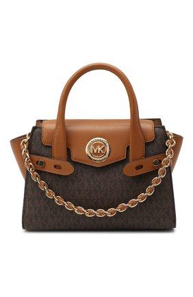 Женская сумка carmen small MICHAEL MICHAEL KORS коричневого цвета, арт. 30T0GNMM0B   Фото 1