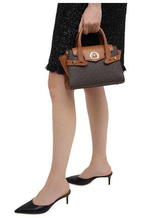 Женская сумка carmen small MICHAEL MICHAEL KORS коричневого цвета, арт. 30T0GNMM0B   Фото 2