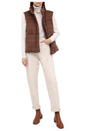 Женский пуховый жилет LORO PIANA бордового цвета, арт. FAL4375 | Фото 2