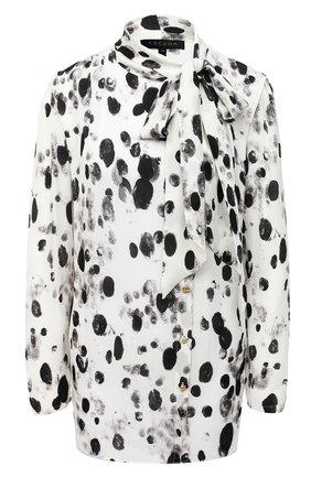 Женская шелковая блузка ESCADA черно-белого цвета, арт. 5034265 | Фото 1