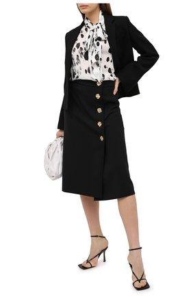 Женская шелковая блузка ESCADA черно-белого цвета, арт. 5034265 | Фото 2