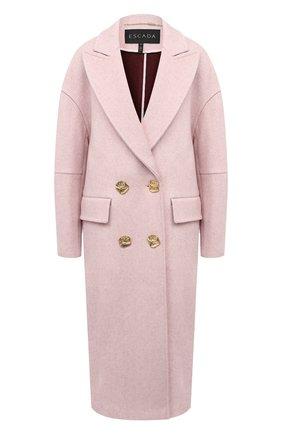 Женское пальто из кашемира и шерсти ESCADA светло-розового цвета, арт. 5034244 | Фото 1