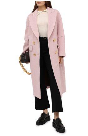 Женское пальто из кашемира и шерсти ESCADA светло-розового цвета, арт. 5034244 | Фото 2