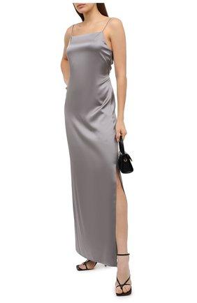 Женское шелковое платье HELMUT LANG светло-серого цвета, арт. K06HW605 | Фото 2