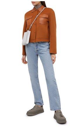 Женская куртка из шерсти и кашемира THEORY коричневого цвета, арт. K0701407 | Фото 2