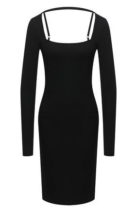 Женское платье из вискозы HELMUT LANG черного цвета, арт. K07HW604 | Фото 1