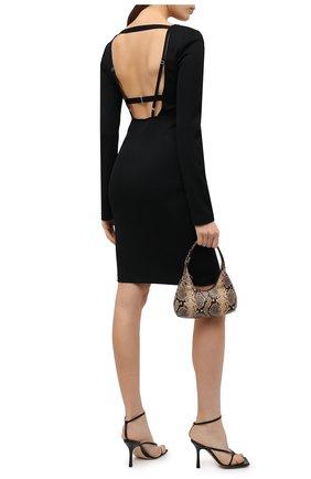 Женское платье из вискозы HELMUT LANG черного цвета, арт. K07HW604 | Фото 2