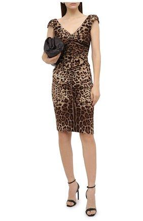 Женское шелковое платье DOLCE & GABBANA леопардового цвета, арт. J6137T/FSADD | Фото 2