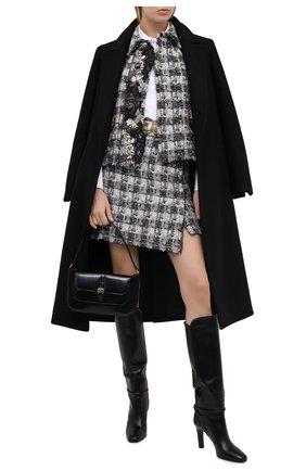 Женская твидовая юбка DOLCE & GABBANA серого цвета, арт. J4027T/FQMHE | Фото 2