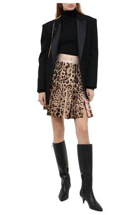 Женская юбка в складку DOLCE & GABBANA леопардового цвета, арт. J4017Z/FSBAV | Фото 2