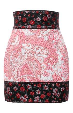 Женская юбка DOLCE & GABBANA розового цвета, арт. J4015Z/HJMFW | Фото 1