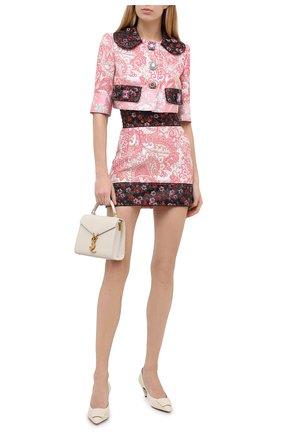 Женская юбка DOLCE & GABBANA розового цвета, арт. J4015Z/HJMFW | Фото 2