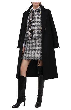 Женский твидовый жакет DOLCE & GABBANA серого цвета, арт. J2AARZ/FQMHE   Фото 2