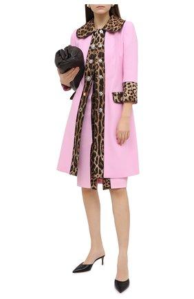 Женское пальто из шерсти и хлопка DOLCE & GABBANA розового цвета, арт. J0AABZ/FU2TZ | Фото 2