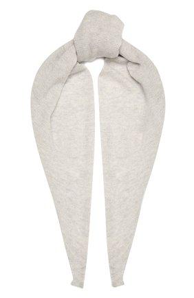 Мужские шарф из смеси шерсти и кашемира INVERNI светло-серого цвета, арт. 4264SM | Фото 1