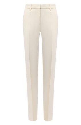 Женские брюки из вискозы и шерсти OFF-WHITE кремвого цвета, арт. 0WCA115F20FAB0066100   Фото 1