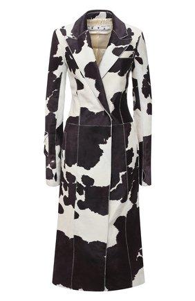 Женское кожаное пальто OFF-WHITE разноцветного цвета, арт. 0WJA038F20LEA0026145 | Фото 1