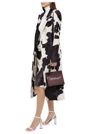Женское кожаное пальто OFF-WHITE разноцветного цвета, арт. 0WJA038F20LEA0026145 | Фото 2
