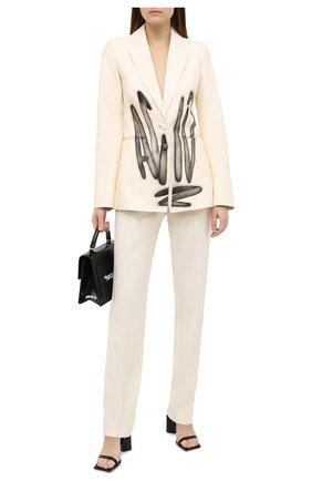 Женский кожаный жакет OFF-WHITE кремвого цвета, арт. 0WJA042F20LEA0016110 | Фото 2
