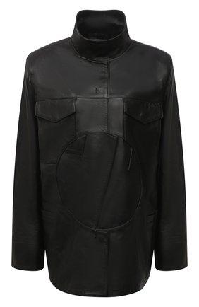 Женская кожаная куртка OFF-WHITE черного цвета, арт. 0WJA043F20LEA0011000 | Фото 1