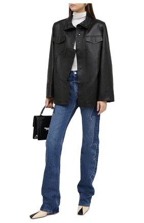 Женская кожаная куртка OFF-WHITE черного цвета, арт. 0WJA043F20LEA0011000 | Фото 2