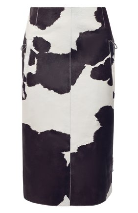Женская кожаная юбка OFF-WHITE разноцветного цвета, арт. 0WJC007F20LEA0016145 | Фото 1