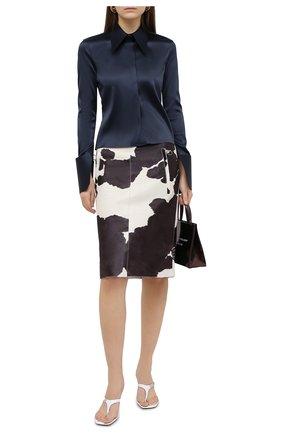 Женская кожаная юбка OFF-WHITE разноцветного цвета, арт. 0WJC007F20LEA0016145 | Фото 2
