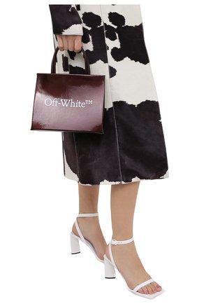 Женский сумка box mini OFF-WHITE бордового цвета, арт. 0WNA059F20LEA0012801 | Фото 2
