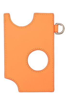 Женский кожаный футляр для кредитных карт OFF-WHITE оранжевого цвета, арт. 0WNJ002F20LEA0042000   Фото 2