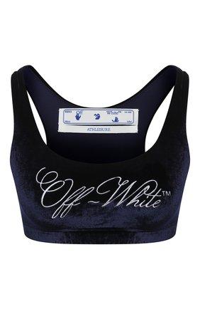 Женская топ из вискозы OFF-WHITE синего цвета, арт. 0WV0023F20FAB0014501 | Фото 1