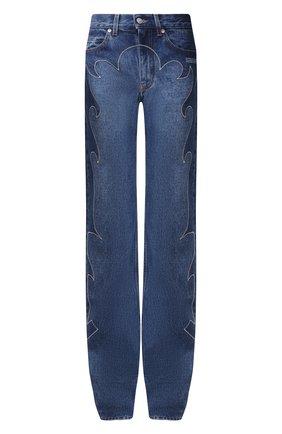 Женские джинсы OFF-WHITE синего цвета, арт. 0WYA022F20DEN0014545   Фото 1