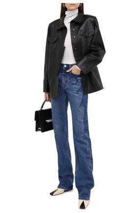 Женские джинсы OFF-WHITE синего цвета, арт. 0WYA022F20DEN0014545   Фото 2