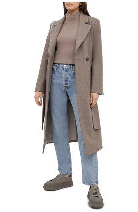 Женское шерстяное пальто TWINS FLORENCE бежевого цвета, арт. TWFAI20CAP0001B | Фото 2