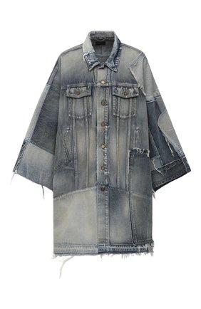 Женское джинсовое пальто SAINT LAURENT голубого цвета, арт. 641234/Y372F | Фото 1