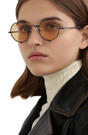 Мужские солнцезащитные очки MATSUDA серебряного цвета, арт. 10601H MBK | Фото 2