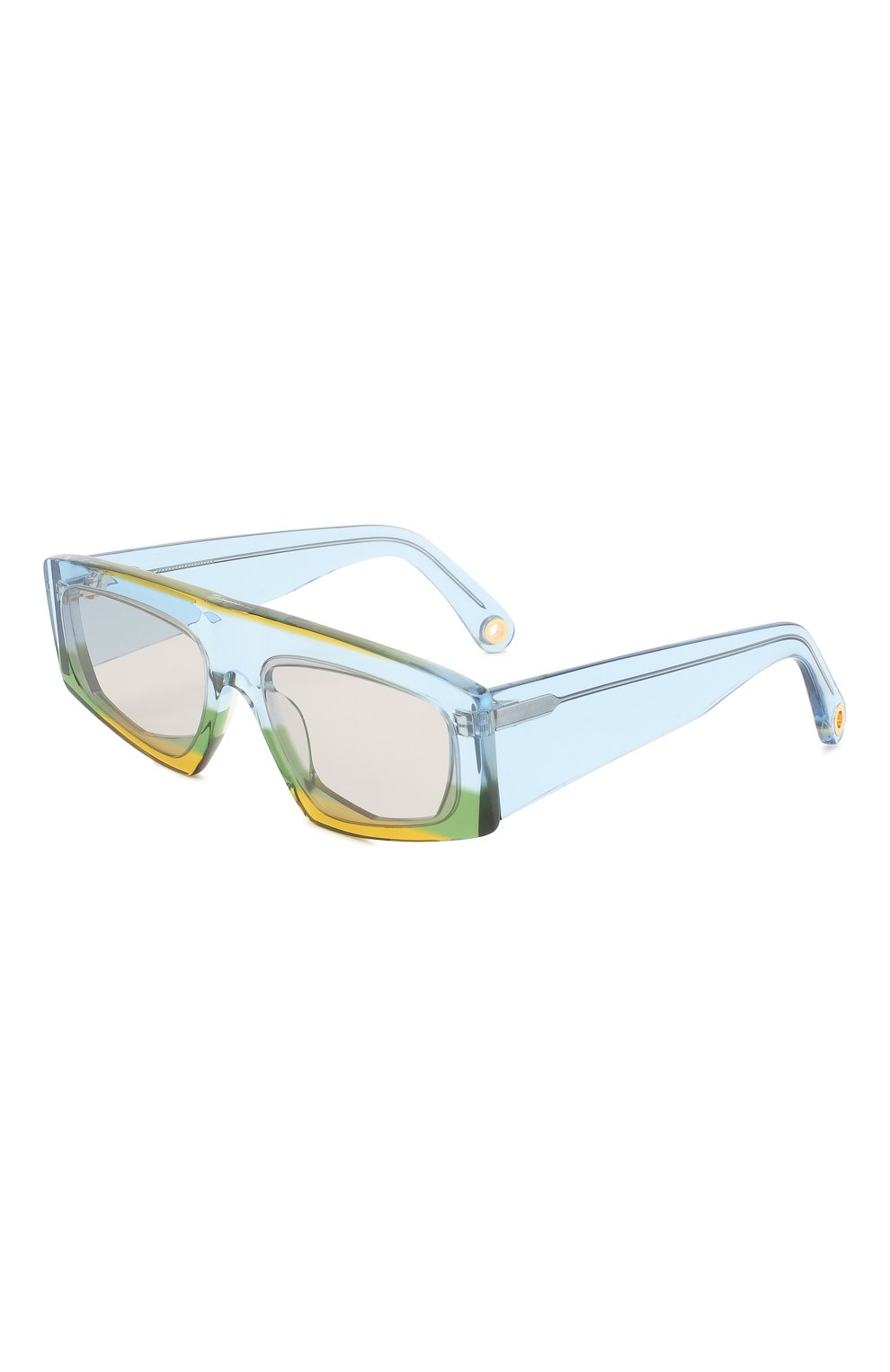 Женские солнцезащитные очки JACQUEMUS голубого цвета, арт. LES LUNETTES YAUC0 MULTI YELL0W | Фото 1