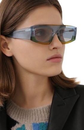 Женские солнцезащитные очки JACQUEMUS голубого цвета, арт. LES LUNETTES YAUC0 MULTI YELL0W | Фото 2