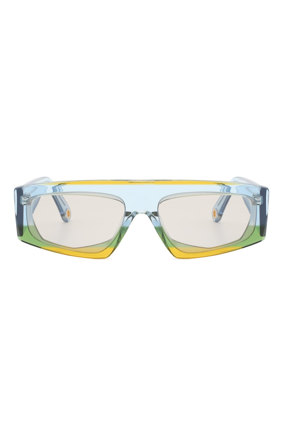 Женские солнцезащитные очки JACQUEMUS голубого цвета, арт. LES LUNETTES YAUC0 MULTI YELL0W | Фото 3