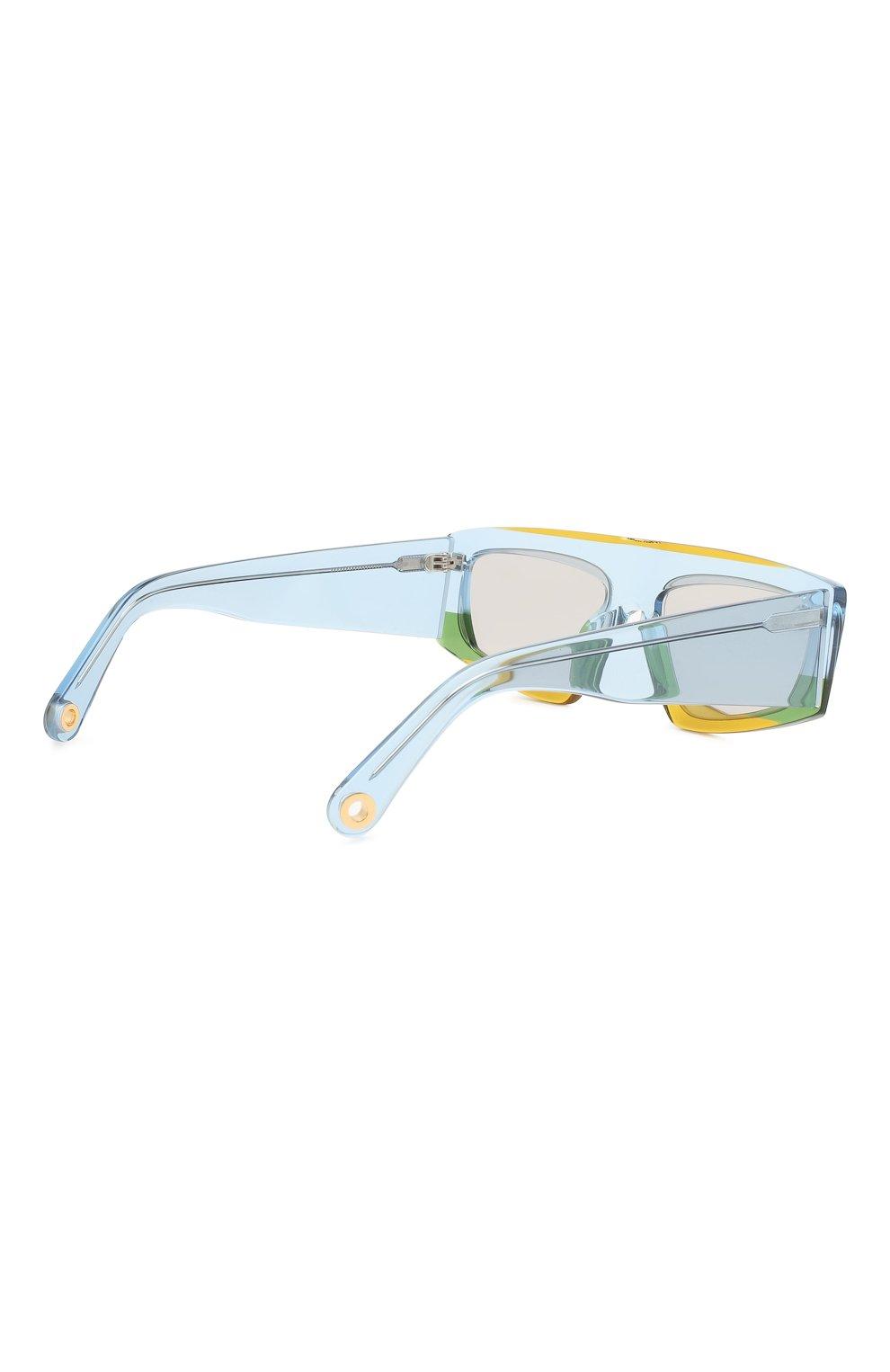 Женские солнцезащитные очки JACQUEMUS голубого цвета, арт. LES LUNETTES YAUC0 MULTI YELL0W | Фото 4