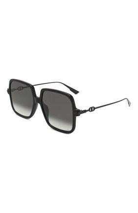 Женские солнцезащитные очки DIOR черного цвета, арт. DI0RLINK1 807 | Фото 1