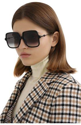 Женские солнцезащитные очки DIOR черного цвета, арт. DI0RLINK1 807 | Фото 2