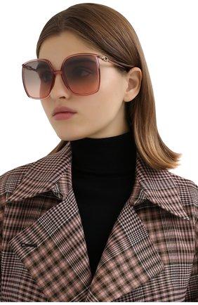Женские солнцезащитные очки FENDI сиреневого цвета, арт. 0431/G 35J   Фото 2