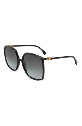 Женские солнцезащитные очки FENDI черного цвета, арт. 0431/G 807 | Фото 1