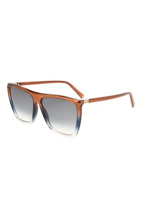 Женские солнцезащитные очки GIVENCHY коричневого цвета, арт. 7181 4E3 | Фото 1