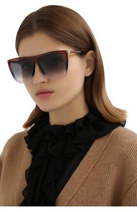 Женские солнцезащитные очки GIVENCHY коричневого цвета, арт. 7181 4E3 | Фото 2