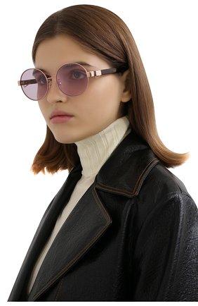 Женские солнцезащитные очки MARC JACOBS (THE) сиреневого цвета, арт. MARC 497/G DDB | Фото 2