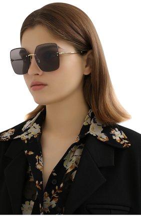 Женские солнцезащитные очки JIMMY CHOO темно-серого цвета, арт. TAVI 2F7 | Фото 2